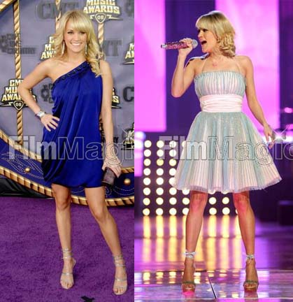 On the red carpet, Carrie Underwood looked great in what appears to be a