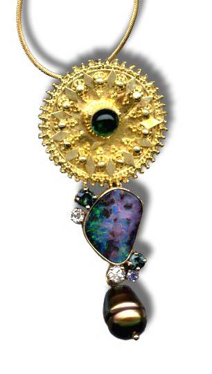 Minx opal pendant